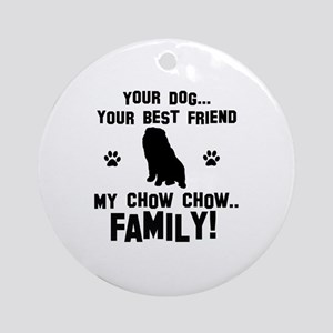 Chow Chow dog breed designs Ornament (Round)