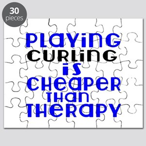 Curling Is Cheaper Than Therapy Puzzle