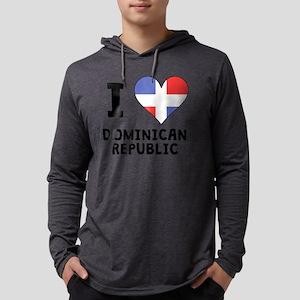 I Heart Dominican Republic Mens Hooded Shirt
