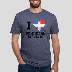 I Heart Dominican Republic Mens Tri-blend T-Shirt