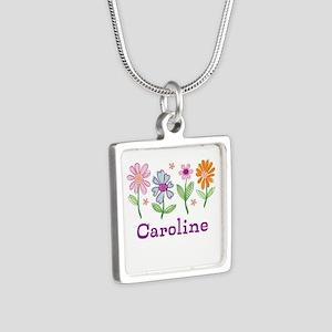 Daisy Garden Silver Square Necklace