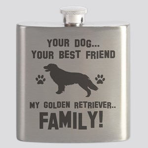 Golden Retriever dog breed designs Flask