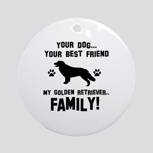 Golden Retriever dog breed designs Ornament (Round