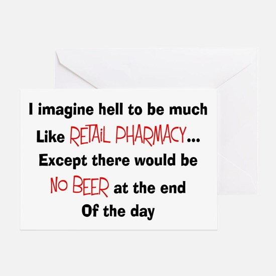 Retail pharmacy hell no beer.PNG Greeting Card
