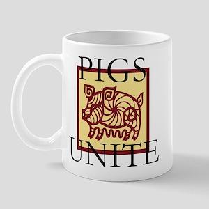 Pigs Unite Mug