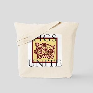 Pigs Unite Tote Bag