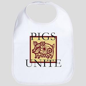 Pigs Unite Bib