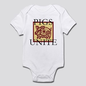 Pigs Unite Infant Bodysuit