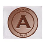 Copper Arizona 1912 Logo Throw Blanket