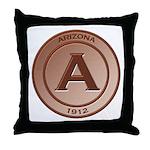 Copper Arizona 1912 Logo Throw Pillow