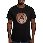 Copper Arizona 1912 Logo Men's Fitted T-Shirt (dar
