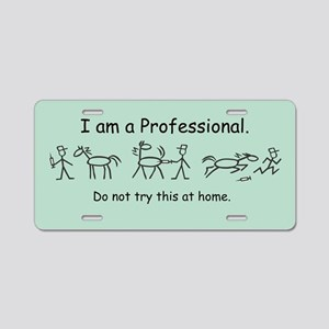 I am A Pro: Vet Aluminum License Plate