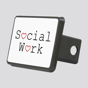 Social Work Hearts Rectangular Hitch Cover