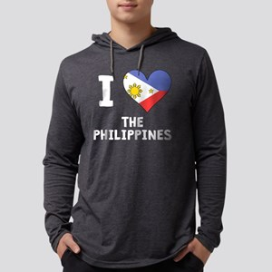 I Heart The Philippines Mens Hooded Shirt