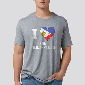I Heart The Philippines Mens Tri-blend T-Shirt