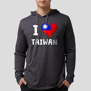 I Heart Taiwan Mens Hooded Shirt