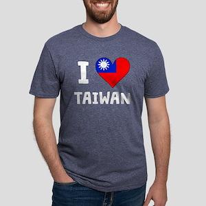 I Heart Taiwan Mens Tri-blend T-Shirt