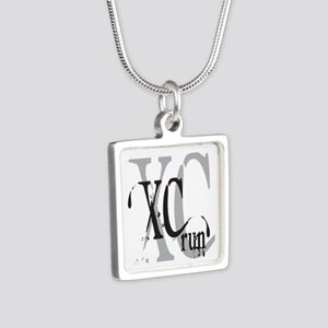 Cross Country XC Silver Square Necklace