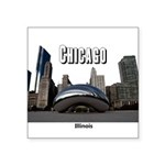 "Chicago Square Sticker 3"" x 3"""