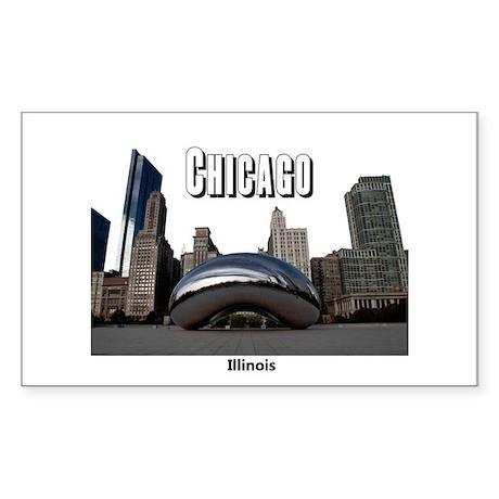 Chicago Sticker (Rectangle 10 pk)