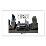 Chicago Sticker (Rectangle 10 pk)