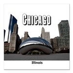 "Chicago Square Car Magnet 3"" x 3"""