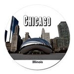 Chicago Round Car Magnet