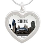 Chicago Silver Heart Necklace