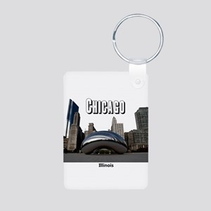 Chicago Aluminum Photo Keychain
