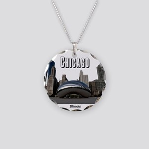 Chicago Necklace Circle Charm