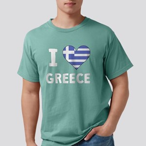 I Heart Greece Mens Comfort Colors Shirt