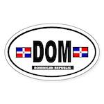 Dominican Republic International Oval Sticker