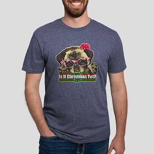 Is it Christmas yet pug Mens Tri-blend T-Shirt