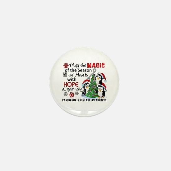 Holiday Penguins Parkinsons Mini Button