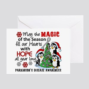 Holiday Penguins Parkinsons Greeting Card
