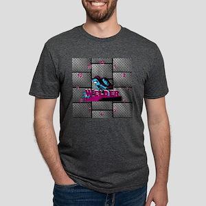 Welder Diamond Plate Mens Tri-blend T-Shirt