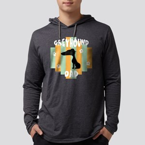 GreyhoundDad4 Mens Hooded Shirt