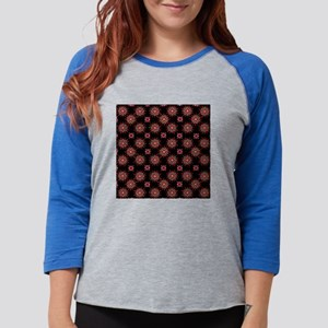 Retro Starburst in  Red and Bl Womens Baseball Tee