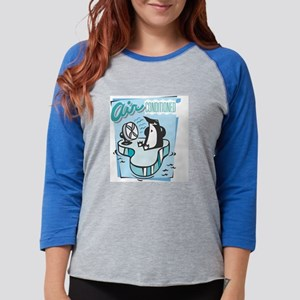 Air Conditioned Penguin Blue 1 Womens Baseball Tee