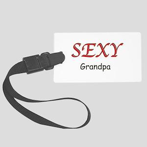 Sexy Grandpa Large Luggage Tag