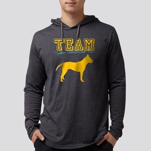 yellow black mouth curW Mens Hooded Shirt
