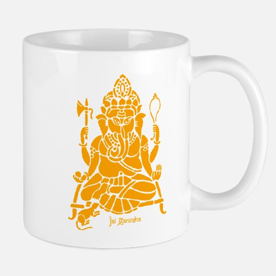 Orange-Ganesh Mugs