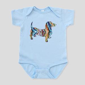 Psychedelic Doxie Dachshund Infant Bodysuit