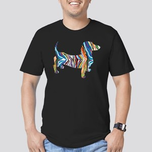 Psychedelic Doxie Dachshund Men's Fitted T-Shirt (