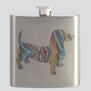 Psychedelic Doxie Dachshund Flask