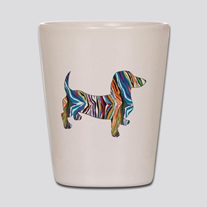 Psychedelic Doxie Dachshund Shot Glass