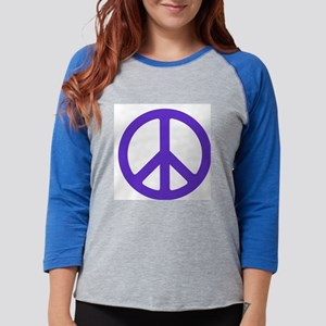peace_purple Womens Baseball Tee