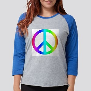 peace_rainbow Womens Baseball Tee