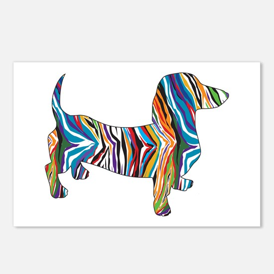 Psychedelic Doxie Dachshund Postcards (Package of