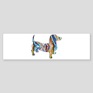 Psychedelic Doxie Dachshund Sticker (Bumper)